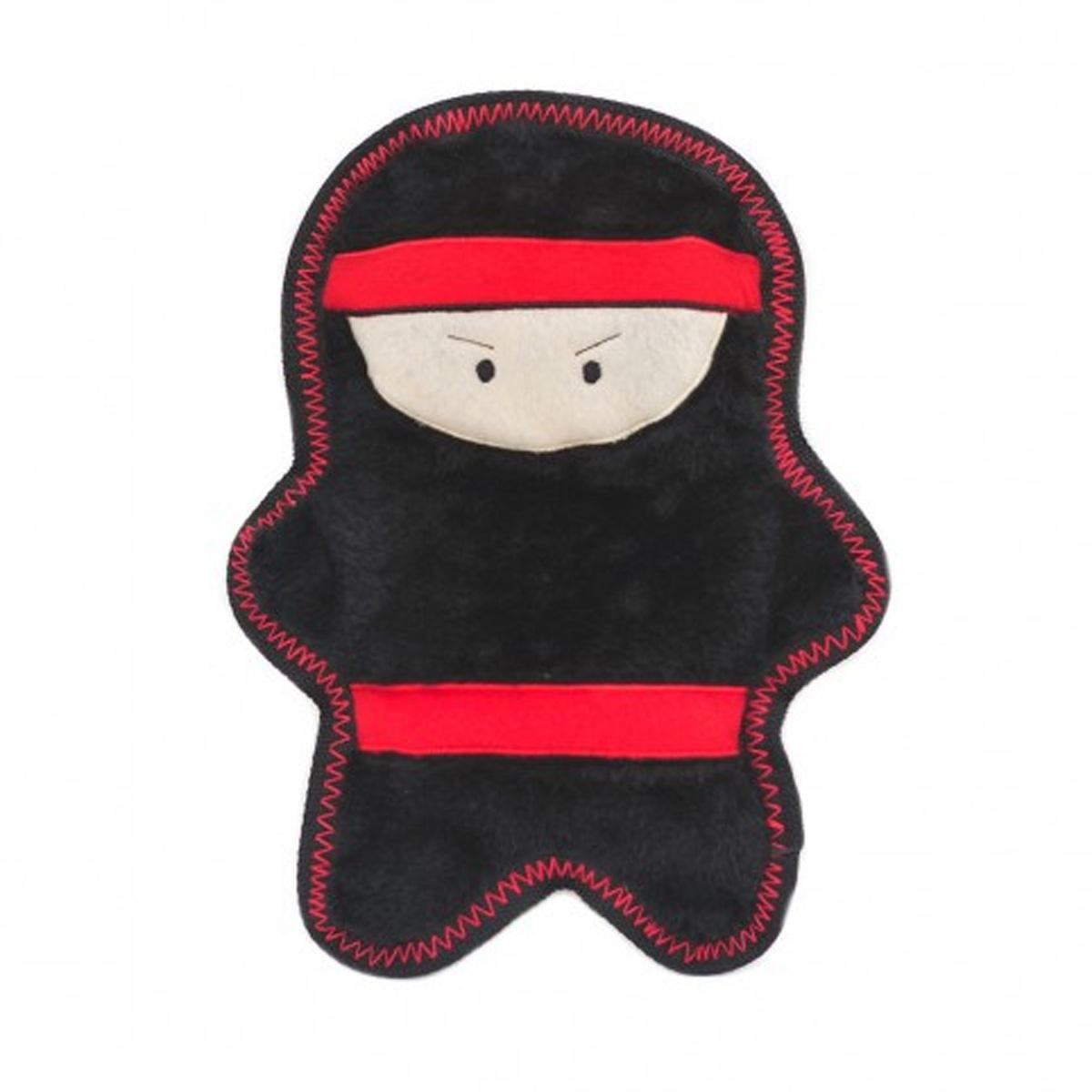 ZippyPaws Warriorz with Z-Stitch Dog Toy - Nobu the Ninja