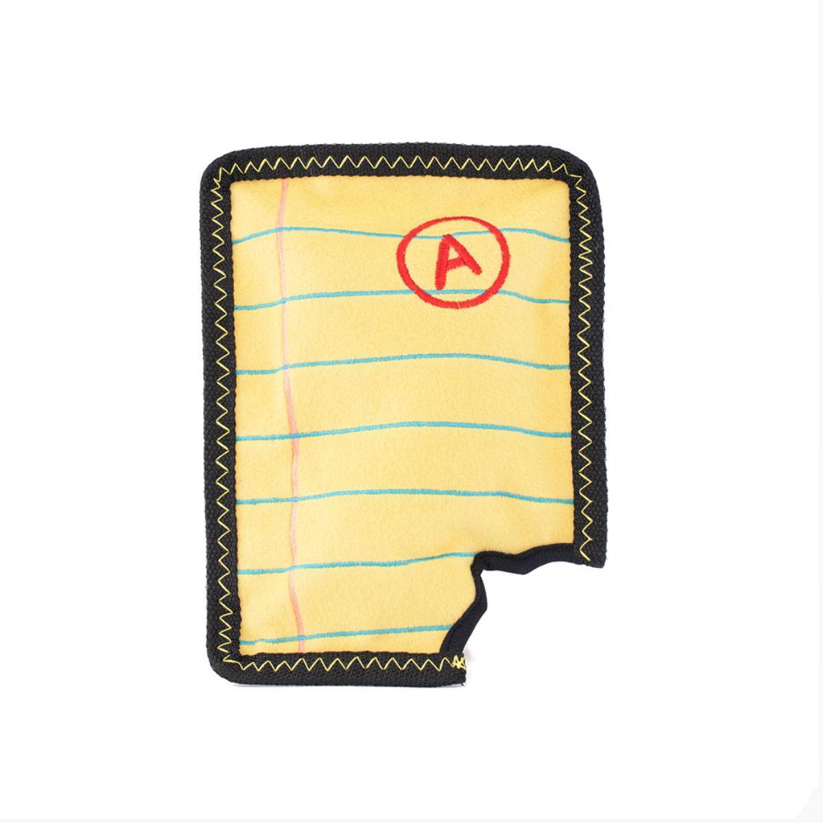 ZippyPaws Z-Stitch Yellow Notepad Dog Toy