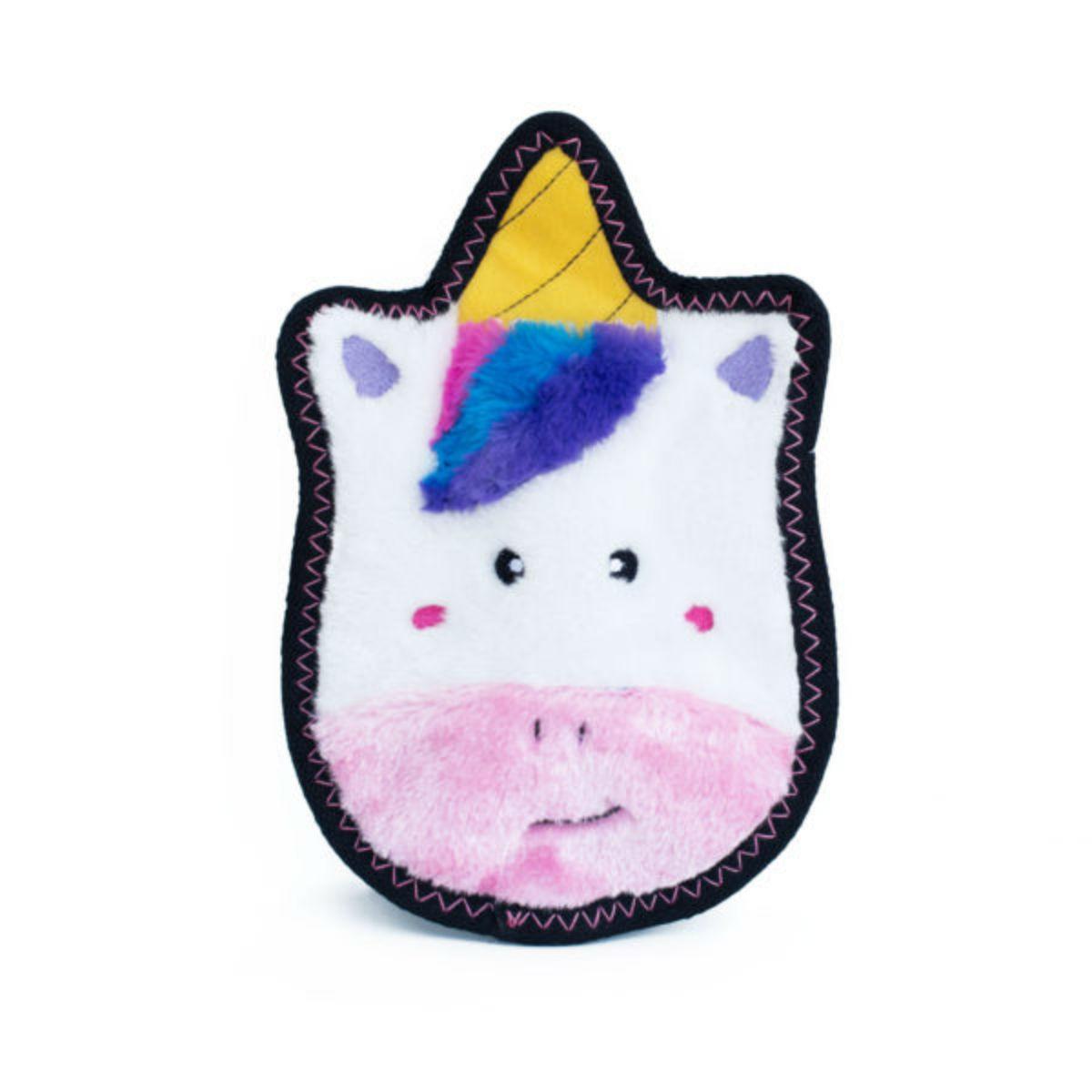 ZippyPaws Z-Stitch Unicorn Dog Toy