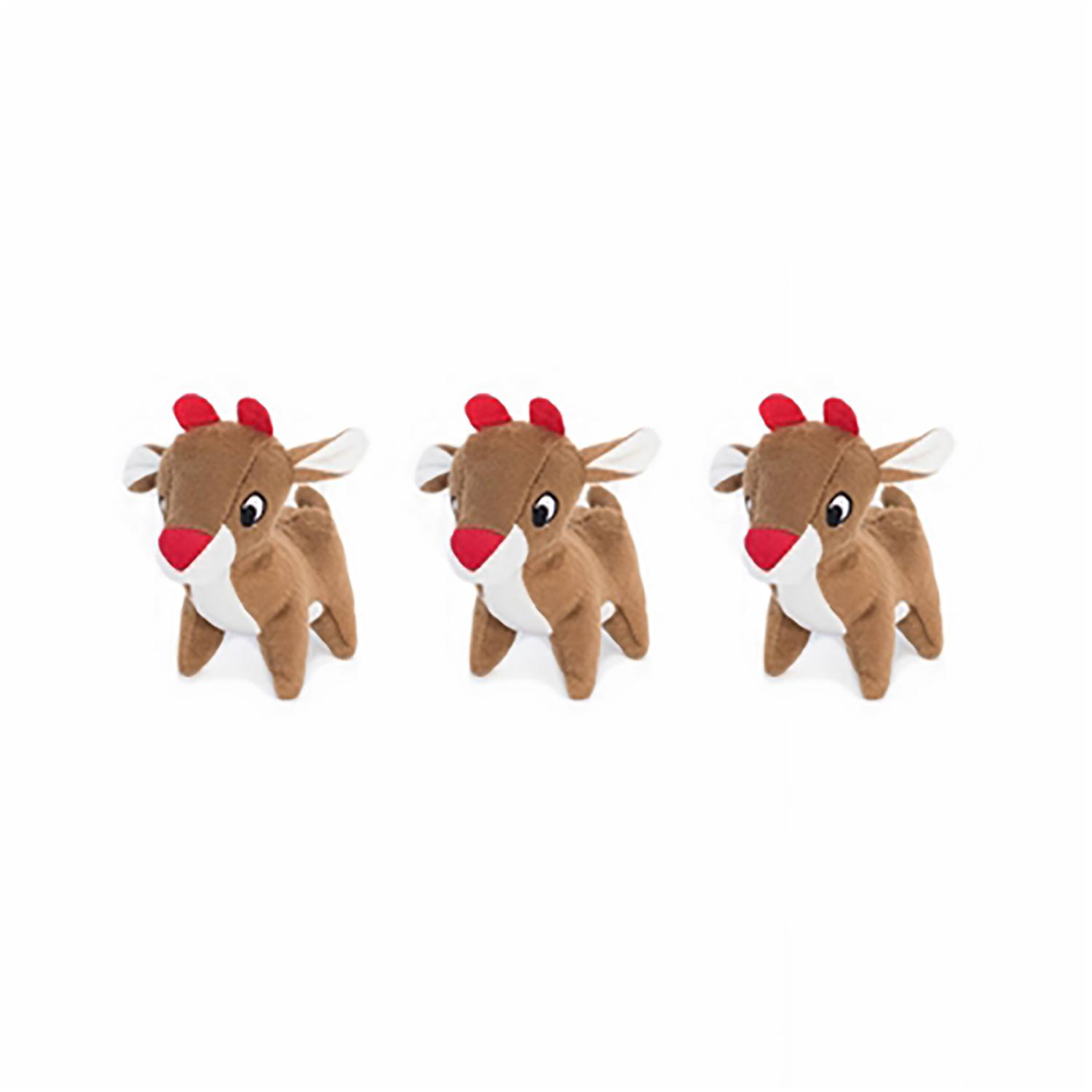 ZippyPaws Miniz Dog Toys - Reindeer