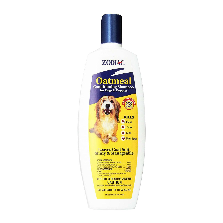 Zodiac Oatmeal Flea & Tick Dog & Puppy Conditioning Shampoo