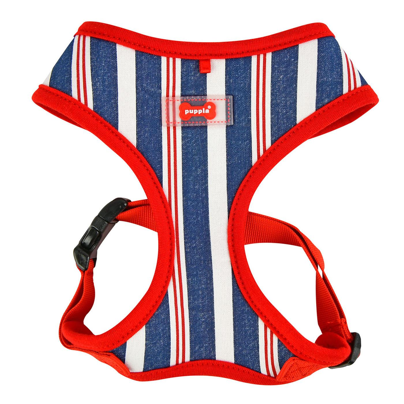 Zorion Striped Dog Harness by Puppia - Red