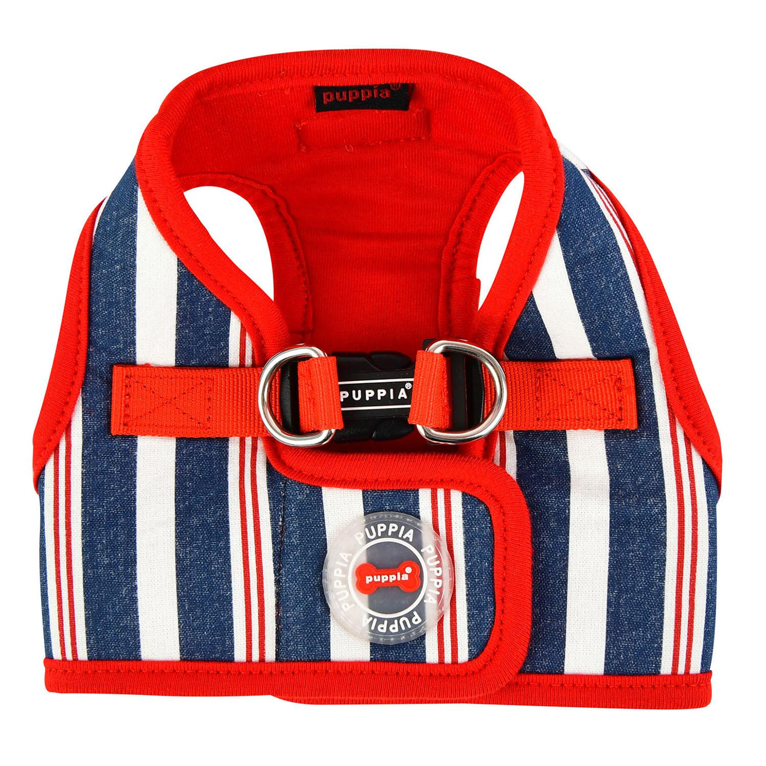 Zorion Striped Vest Dog Harness by Puppia - Red