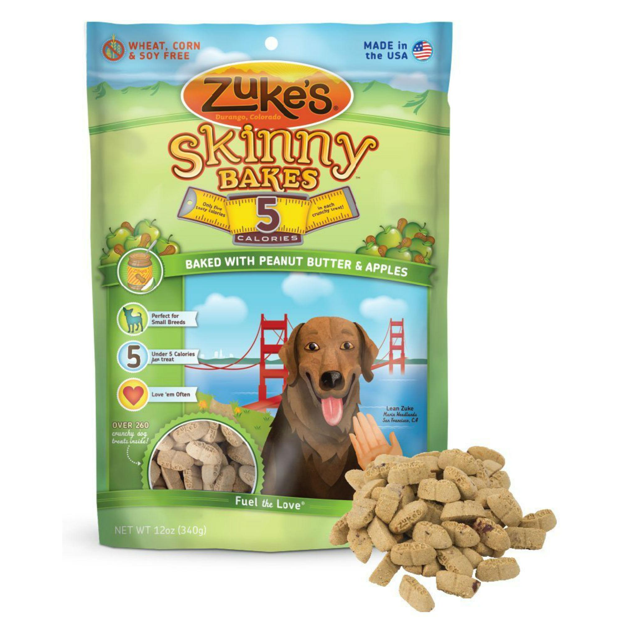 Zukes Skinny Bakes Dog Treat - Apple/Peanut Butter with