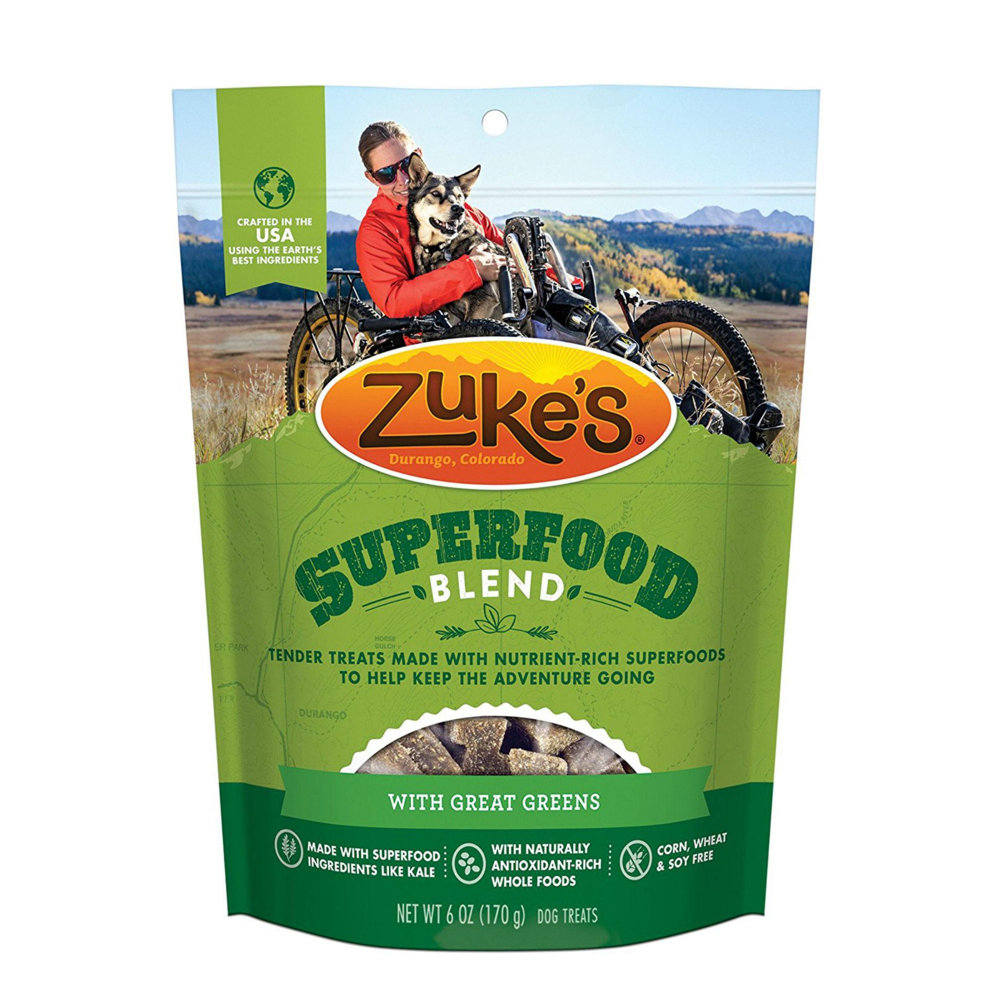 Zukes Super Food Dog Treats - Great Greens