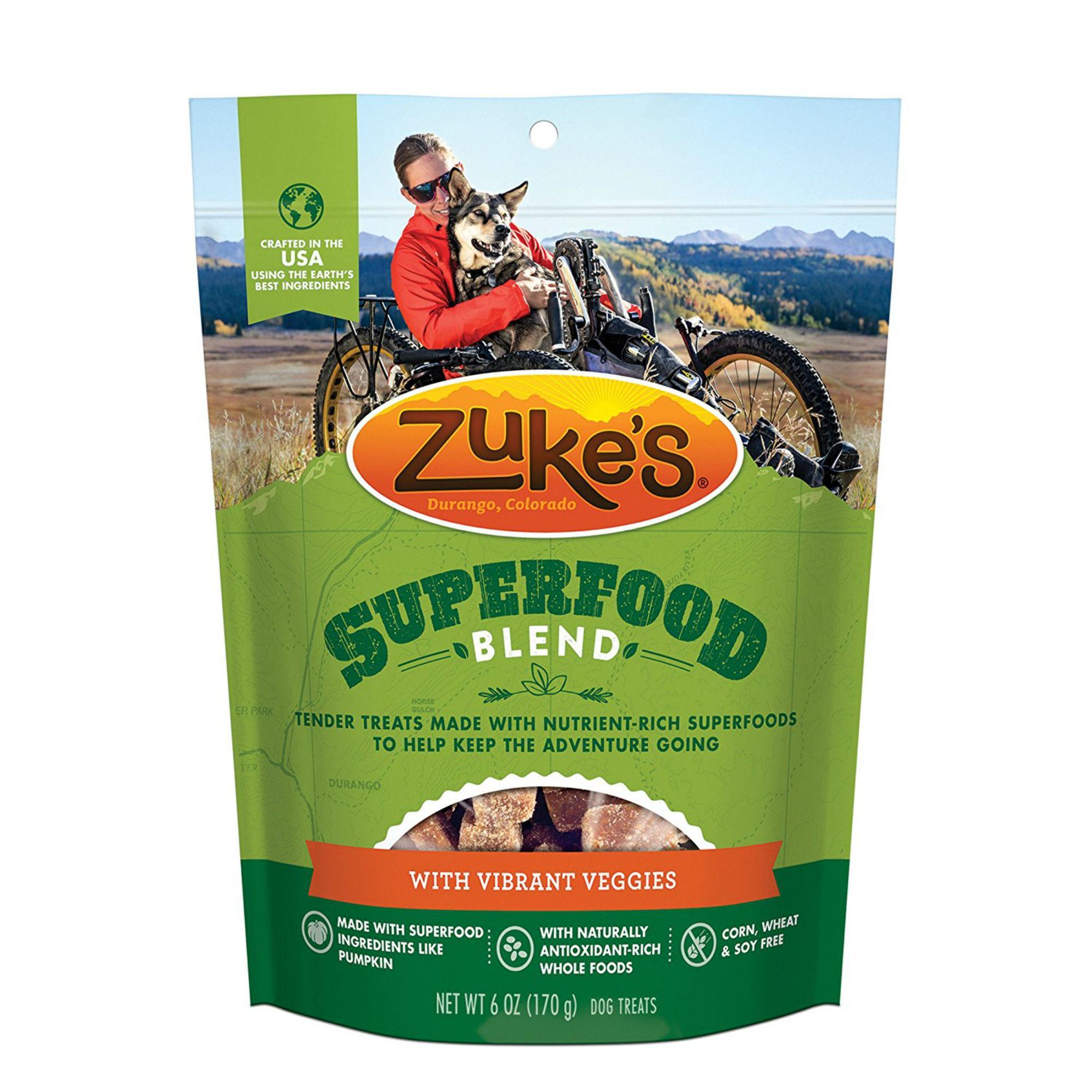 Zuke's Super Food Dog Treats - Vibrant Veggies
