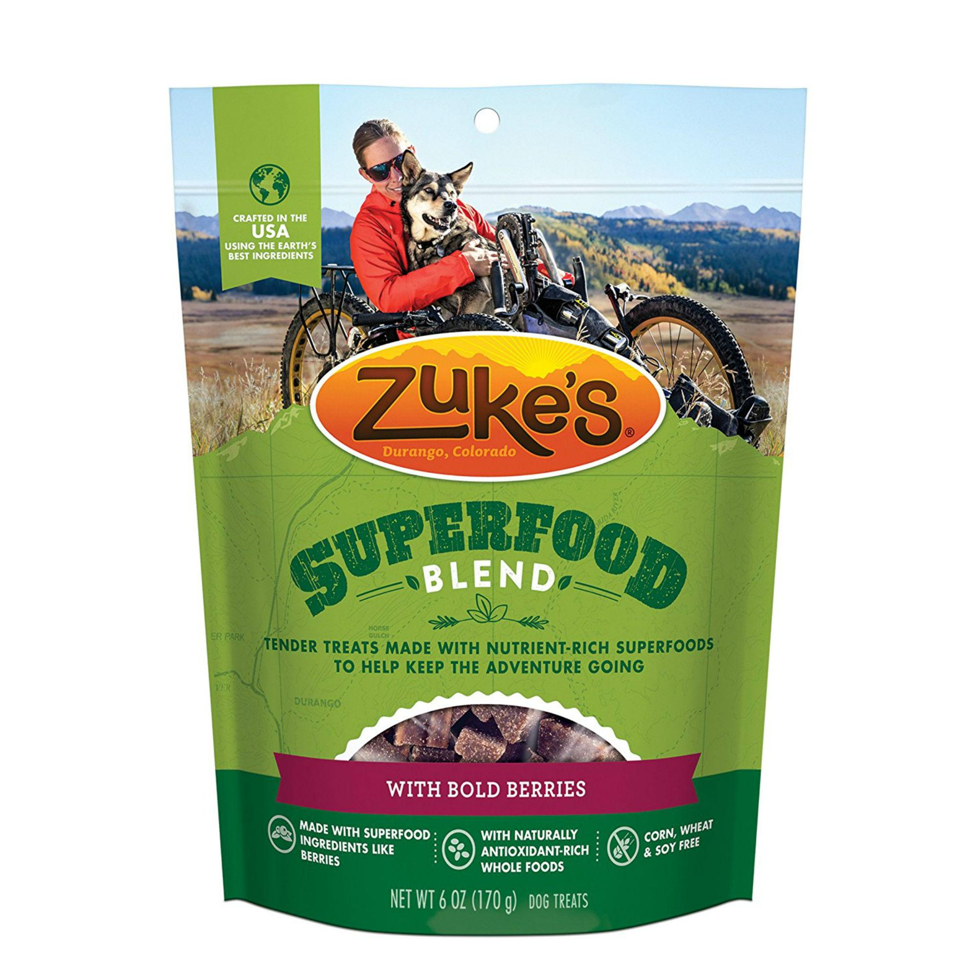 Zukes Super Food Dog Treats - Bold Berries