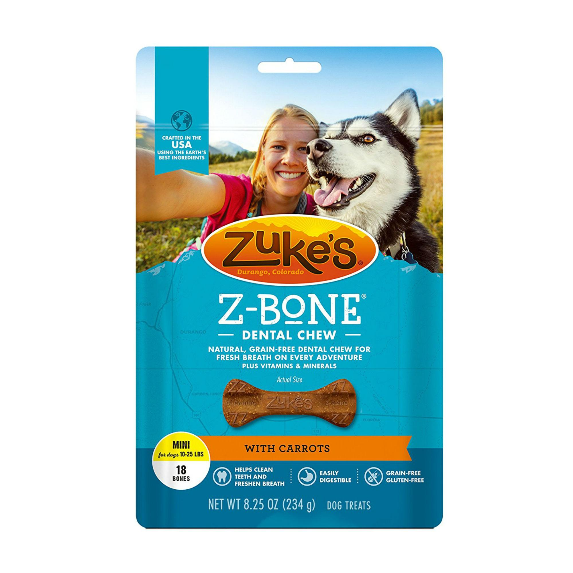 Zuke's Z-Bones Dental Dog Chews - Carrot