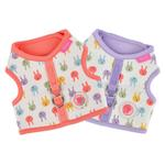 View Image 3 of Hopper Pinka Dog Harness by Pinkaholic - Indian Pink