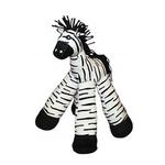 View Image 1 of 12-inch Long Legs Zebra Plush Dog Toy