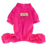 View Image 1 of Velour Dog Pajamas by Dobaz - Hot Pink