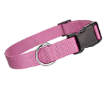 View Image 1 of Parisian Pet Nylon Dog Collar - Light Pink