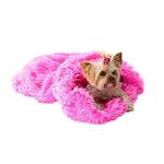 View Image 1 of 3-in-1 Cozy Dog Cuddle Sack - Hot Pink Powder Puff
