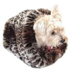 View Image 1 of 3-in-1 Cozy Dog Cuddle Sack - Ocelot
