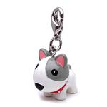View Image 1 of 3-D White Dog with Spikes Dog Collar Charm by Klippo