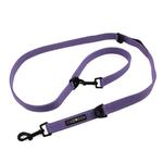 View Image 1 of 6 Way Multi-Function Dog Leash by Doggie Design - Paisley Purple