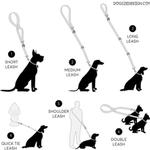 View Image 2 of 6 Way Multi-Function Dog Leash - Red