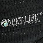 View Image 6 of Pet Life ACTIVE 'Hybreed' Two-Toned Performance Dog T-Shirt - Black and Gray