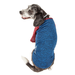 View Image 4 of Pet Life ACTIVE 'Hybreed' Two-Toned Performance Dog T-Shirt - Blue and Maroon
