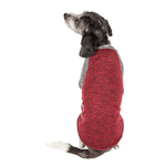 View Image 6 of Pet Life ACTIVE 'Hybreed' Two-Toned Performance Dog T-Shirt - Maroon and Gray