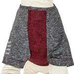 View Image 4 of Pet Life ACTIVE 'Hybreed' Two-Toned Performance Dog T-Shirt - Maroon and Gray