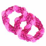 View Image 1 of ABACA-DABRA 2 Circle Tug Dog Toy from WaLk-e-Woo - Pink