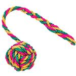 View Image 1 of ABACA-DABRA Ball on Rope Dog Toy from WaLk-e-Woo