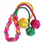 View Image 1 of ABACA-DABRA Triple Balls Dog Toy from WaLk-e-Woo