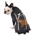 View Image 1 of Acadia Bear Dog Sweater - Charcoal Heather