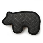 View Image 1 of Acadia Felt & Sherpa Bear Dog Toy - Gray