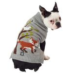 View Image 1 of Acadia Fox Dog Sweater - Silver Heather