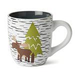 View Image 1 of Acadia Moose & Bear Mug - White/Gray