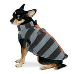 View Image 2 of Active Fleece D-Ring Striped Dog Coat by Dogo - Gray