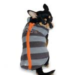 View Image 4 of Active Fleece D-Ring Striped Dog Coat by Dogo - Gray