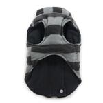 View Image 3 of Active Fleece D-Ring Striped Dog Coat by Dogo - Gray