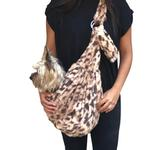 View Image 1 of Fur Baby Adjustable Sling Bag Dog Carrier - King Cheetah
