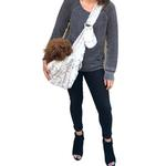 View Image 2 of Fur Baby Adjustable Sling Bag Dog Carrier - Frosted Snow Leopard