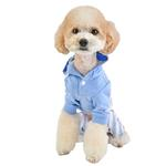 View Image 5 of Aerglo Hooded Dog Jumpsuit by Pinkaholic - Melange Blue