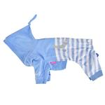 View Image 3 of Aerglo Hooded Dog Jumpsuit by Pinkaholic - Melange Blue