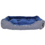 View Image 2 of Ahoy Striped Dog Bed - Blue