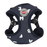 View Image 1 of Algo Adjustable Step-In Dog Harness by Puppia - Navy