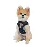 View Image 2 of Algo Adjustable Step-In Dog Harness by Puppia - Navy