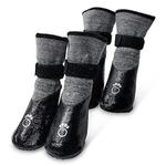 View Image 1 of All-Terrain Dog Booties - Charcoal