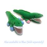 View Image 2 of Alligator Safari Baby Pipsqueak Dog Toy By Oscar Newman - Pink
