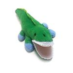 View Image 1 of Alligator Safari Baby Pipsqueak Dog Toy By Oscar Newman - Blue