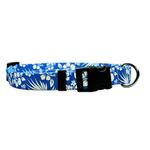 View Image 1 of Aloha Blue Dog Collar by Yellow Dog