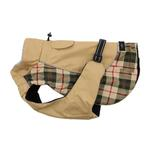 View Image 1 of Alpine All-Weather Dog Coat by Doggie Design - Beige Plaid