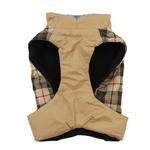 View Image 3 of Alpine All-Weather Dog Coat by Doggie Design - Beige Plaid