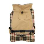 View Image 2 of Alpine All-Weather Dog Coat by Doggie Design - Beige Plaid