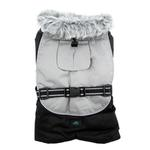 View Image 2 of Alpine All-Weather Dog Coat by Doggie Design - Black and Gray
